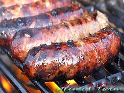 Italian Sausages on BBQ